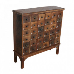 Comoda maro din lemn 105 cm Factory Drawers Raw Materials