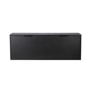 Comoda neagra din placaj si lemn de sungkai 100 cm Carla B HK Living