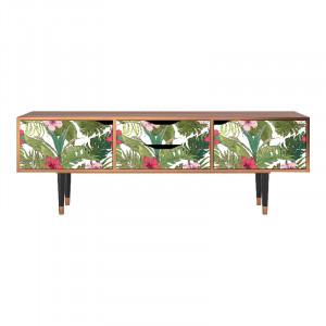 Comoda TV multicolora din MDF si lemn 170 cm Verdant Tropics Eve Furny