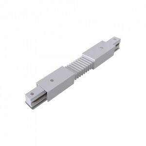 Conector electric alb din plastic cu 2 iesiri pentru sina Track Accesory White Maytoni