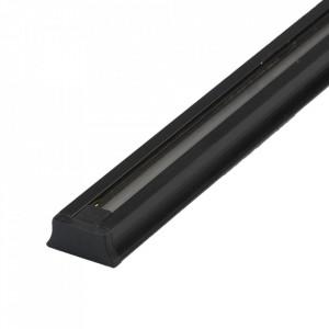 Conector electric negru din aluminiu si plastic Track Techno System MW Glasberg