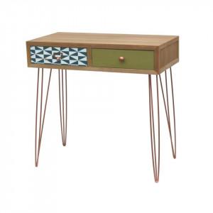 Consola cu 2 sertare din lemn de brad 80 cm Portofino Livin Hill