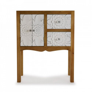 Consola maro/alba din lemn si MDF 63 cm Agnette Entry Table Versa Home
