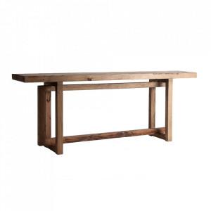 Consola maro din lemn 200 cm Hemye Vical Home