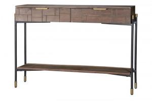 Consola maro din lemn de mango si metal 110 cm Valo Giner y Colomer