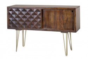 Consola maro din lemn de mango si metal 120 cm Ian Giner y Colomer
