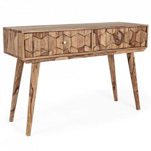 Consola maro din lemn de sheesham 113 cm Kant Bizzotto