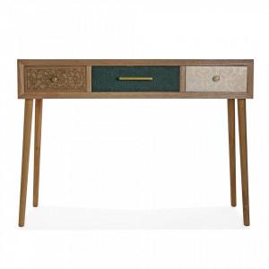 Consola multicolora din MDF si lemn 107 cm Bridgette Boe Versa Home