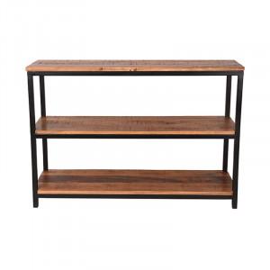 Consola neagra/maro din lemn si metal 110 cm Alana Vintage LABEL51