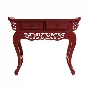 Consola rosu inchis din lemn 104 cm Taipel Vical Home