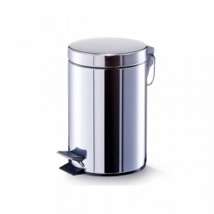 Cos de gunoi argintiu din inox 3 L Household Mini Zeller