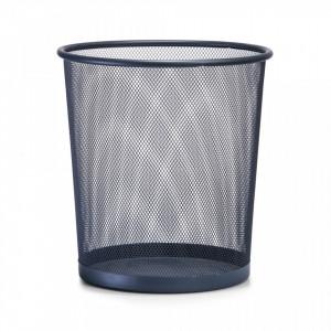 Cos de gunoi gri din metal 26x28 cm pentru birou Mesh Paper Trash Anthracite Zeller