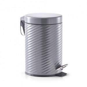 Cos de gunoi gri din metal 3 L Minimoon Zeller