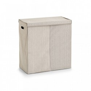 Cos de rufe bej din fleece 61,5x63 cm Laundry Collector Stripes Two Zeller