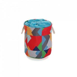Cos de rufe multicolor din poliester 35x40 cm Brais Laundry Mini Versa Home