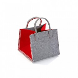 Cos gri/rosu din textil Red Basket Versa Home