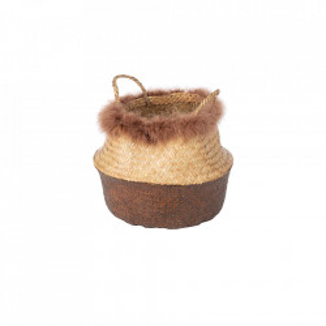 Cos maro/crem din fibre naturale Fera Kids Depot