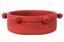 Cos rosu din bumbac Tray Brick Red Lorena Canals