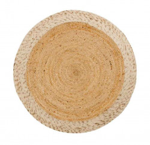 Covor alb/maro din lana si iuta 150 cm Meray La Forma