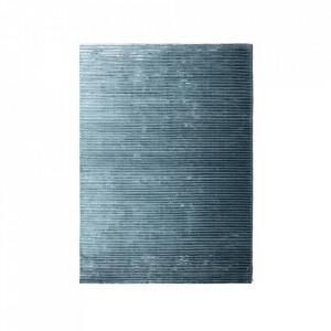 Covor albastru din lyocell si bumbac 170x240 cm Houkime Menu