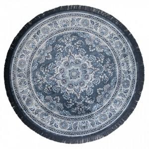 Covor albastru din textil 175 cm Bodega Blue Dutchbone
