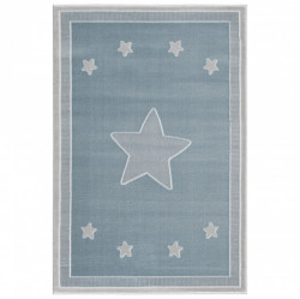 Covor albastru/gri argintiu din iuta si polipropilena Princess Livone (diverse dimensiuni)