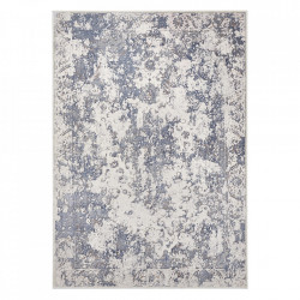 Covor argintiu/albastru din viscoza si poliester Premier Correze Silver Blue Elle Decor (diverse dimensiuni)