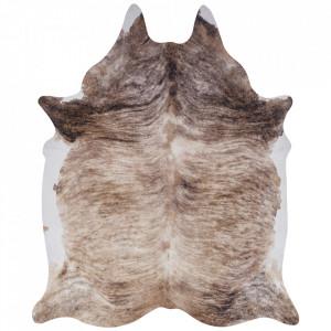 Covor crem/maro din blana 155x190 cm Wild Milton Cream Brown Mint Rugs