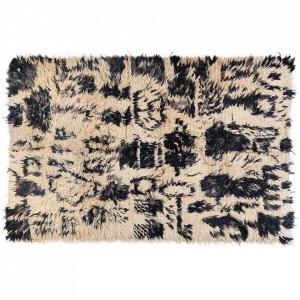 Covor crem/negru din lana 220x335 cm Tulu Versmissen