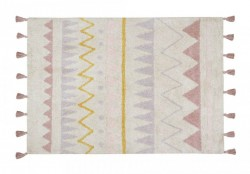 Covor dreptunghiular multicolor din bumbac 140x200 cm Azteca Natural-Vintage Nude Lorena Canals