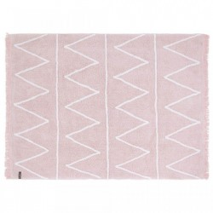 Covor dreptunghiular roz din bumbac 120x160 cm Hippy Pink Lorena Canals