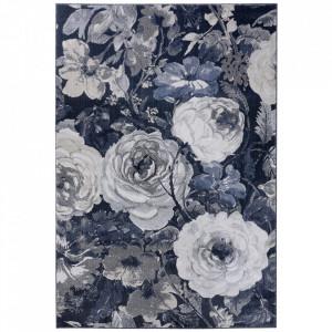 Covor gri/albastru din polipropilena Romance Peony Mint Rugs (diverse dimensiuni)