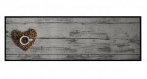 Covor gri bucatarie din poliamide 50x150 cm Coffee Bean Zala Living