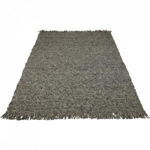 Covor gri din lana 140x200 cm Dalvik Bolia