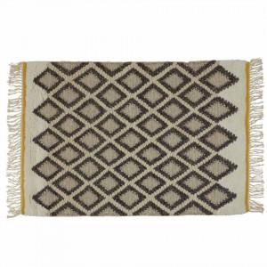 Covor gri/ecru din lana 120x170 cm Sina Zago
