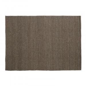 Covor gri/maro din lana si poliester 200x290 cm Fia Nordal