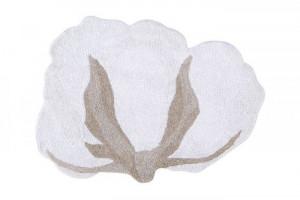 Covor ivoriu din bumbac 120x130 cm Cotton Flower Lorena Canals