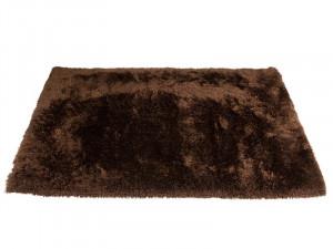 Covor maro din matase si poliester 170x240 cm Potala Brown Santiago Pons