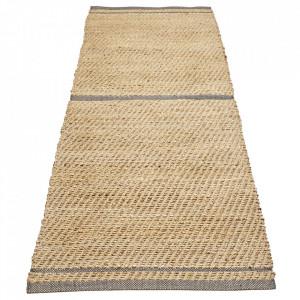 Covor maro/verde din iuta si lana 80x250 cm Conwy Bolia