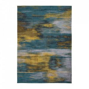 Covor multicolor din bumbac si poliester Atlantic's Nymphea Blue Louis de Poortere (diverse dimensiuni)