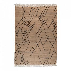 Covor multicolor din iuta si lana 170x240 cm Ishank Dutchbone