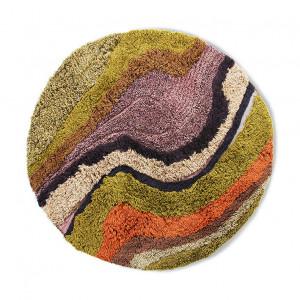 Covor multicolor din lana si bumbac 150 cm Gerard HK Living