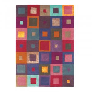 Covor multicolor din lana si viscoza Estella Carré Brink & Campman (diverse dimensiuni)