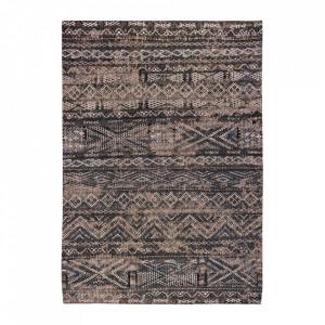 Covor negru din bumbac si lana Antiquarian Black Rabat Louis de Poortere (diverse dimensiuni)