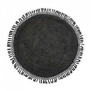 Covor negru din iuta 122 cm Arun Bloomingville