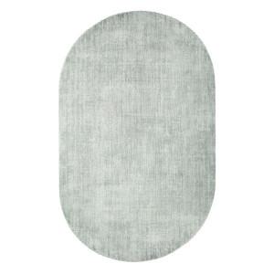 Covor oval verde din viscoza 150x240 cm Oval Mint HK Living