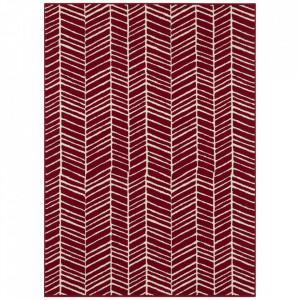 Covor rosu din polipropilena Line Pattern The Home (diverse dimensiuni)