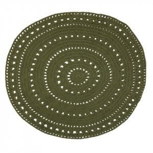 Covor verde kaki din bumbac 120 cm Umaa Khaki Zago