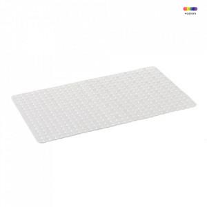 Covoras alb din PVC pentru baie 40x70 cm Lora Unimasa