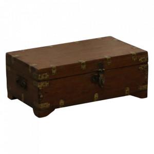 Cufar maro din lemn de tec si alama Metas Raw Materials